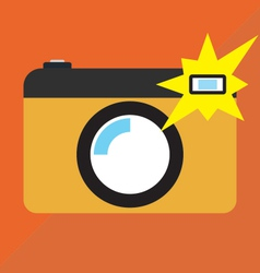 Camera on shot vector