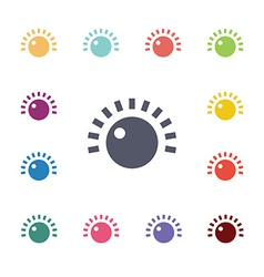 Sound control flat icons set vector