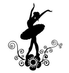 ballet abstract design vector image