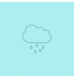 Cloud with rain weather icon vector