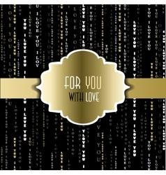 I love you words golden black background vector image