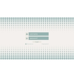Modern login form for website vector