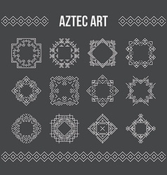 Aztec frames and icons vector