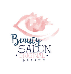 Beauty salon logo design label for hair or beauty vector