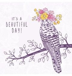 Bird art sketch vector