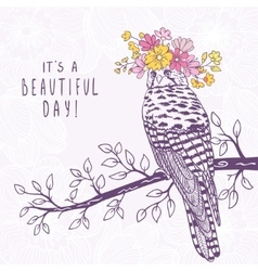 bird art sketch vector image vector image