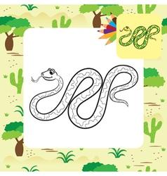 Boa coloring page vector