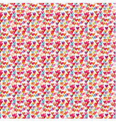 cute hearts seamless pattern fashion background vector image