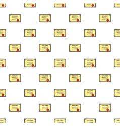 Diploma pattern cartoon style vector