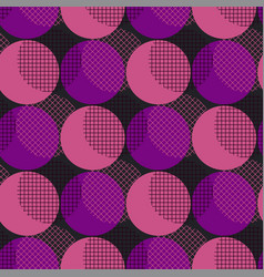 disco style geometry seamless pattern vector image