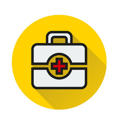 First aid icon on white background vector
