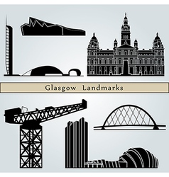 Glasgow Landmarks and monuments vector image vector image