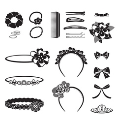 Hair Accessory Monochrome vector image vector image