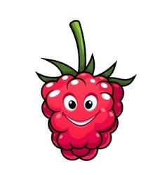 Happy cheeky cartoon raspberry vector