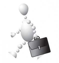 man with a black briefcase vector image vector image