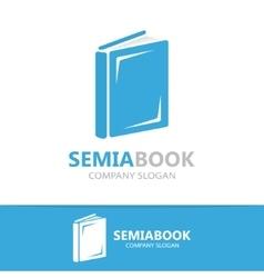 open book logo concept vector image vector image