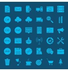 Programming Glyphs Website Icons vector image vector image