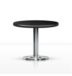 Realistic one leg round table vector