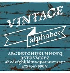 Retro font on wood vector