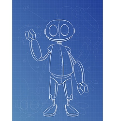 Robot Plans vector image