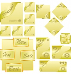 sale element set vector image vector image