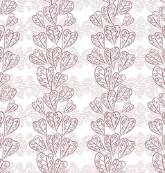 Seamless fall leaves pattern floral wallpaper hand vector image vector image