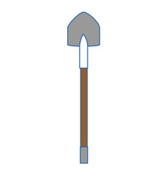 shovel construction tool vector image