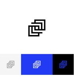 sign symbol of geometric square vector image
