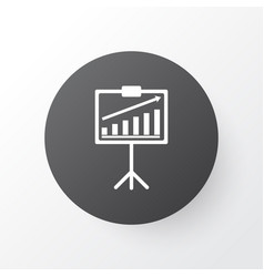 Statistical presentation icon symbol premium vector