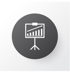 statistical presentation icon symbol premium vector image