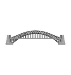 Sydney harbour bridge icon in monochrome style vector