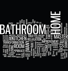 The bathroom the forgotten area of your home text vector