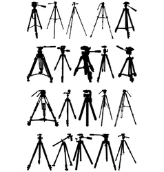 Tripod silhouettes vector image