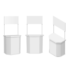 White empty stand or promotion counter vector