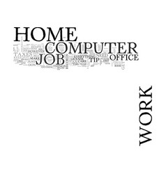 Work at home computer jobs text word cloud concept vector