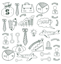 Doodle of image business art vector