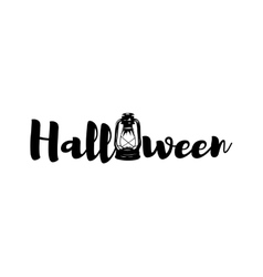 Lantern halloween retro handle lamp vector
