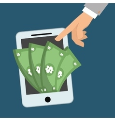 Smartphone money digital app vector