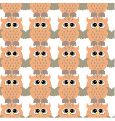 seamless pattern with color owl vector image
