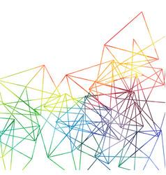 Abstract rainbow lines backdrop watercolor vector