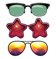 Summer style eyeglasses vector
