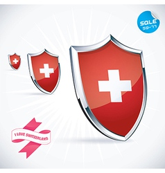 I love switzerland flag vector