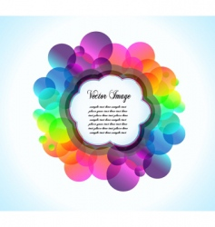 Rainbow bubbles background vector