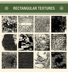 12 detailed grunge textures vector