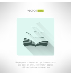 Book icon with seagulls made in modern flat design vector