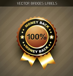 Money back guarantee vector