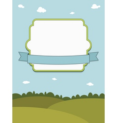 Landscape with frame vector