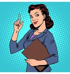 Successful female businesswoman vector