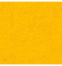 Thin thanksgiving dinner line holiday seamless vector