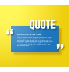 Rectangle motivation quote template yellow vector